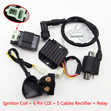 Ignition Coil 6 Pin CDI Regulator Rectifier Relay For 150cc 200cc 250cc ATV Quad