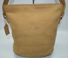 Coach Vintage Sonoma Nubuck Suede Pebble Small Bucket Zip Shoulder Bag 4933