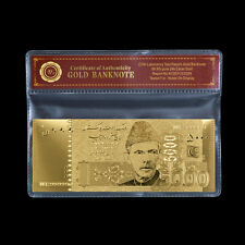 WR Pakistan Gold Banknote State Bank of Pakistan 5000 Rupees Gold Note /w COA