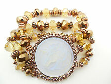 KIRKS FOLLY CLOUDWALKER UNICORN CRYSTAL & FANCY BEAD STRETCH BRACELET ~~NEW ~~