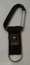 U.S. Army Carabiner Key Chain - US Military Keychain - United States Army - USA