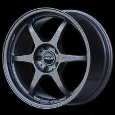 "BUDDY CLUB SF 18"" x 7.5J ET42 4x114.3 GUN METAL ALLOY WHEELS RIMS SET OF 4 Y2436"