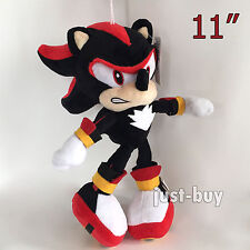 Sonic Shadow the Hedgehog Soft Toy Stuffed Animal Doll Teddy Black and Red 11""