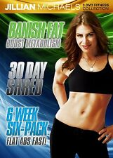 Jillian Michaels - Fitness Collection 3er [DVD] NEU 30 Shred-Banish Fat-Six Pack