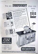 Art Deco 1939 'ESSE' Aga-Style Cooker Range ADVERT #3 - Vintage Print AD