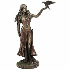 Morrigan and Crow Figurine / Wicca / Witchcraft / Irish Mythology / Nemesis Now