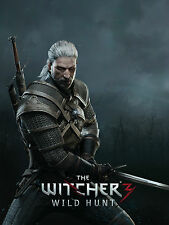 Witcher 3 Poster The Witcher 3 Wild Hunt Game Art A4 260GSM