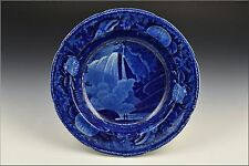 19th Century Wood Staffordshire Historical Blue Niagara Table Rock Plate