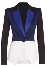 PETER PILOTTO Target Tuxedo Colorblock Blazer Jacket Blue Black White XS