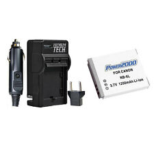NB-6L NB6L Battery + Charger for Canon Powershot SD1200 IS, SD1300 IS, SD980 IS
