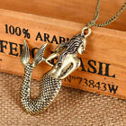 Sweet Cute Jewelry Women Retro Mermaid Pendant Necklace Sweater Chain