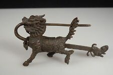 Chinese Bronze Dragon Lock