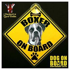 Boxer Dog on Board car signs. LIMITED OFFER-BUY ONE GET ONE FREE!