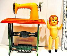 Vintage  Sewing machine plus doll made in Portugal in the 1970's