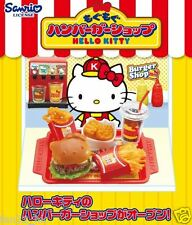 Re-Ment Sanrio Miniature USA Fast Food Hello Kitty Burger Shop rement FULL SET