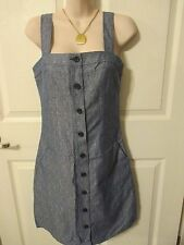 NWT - Derek Lam Chambray Jumper dress women's - sz 4 - MSRP $70.00