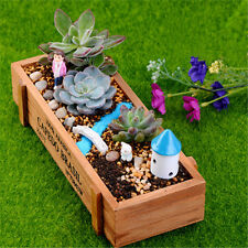 New Wood Planter Garden Yard Rectangle Flower Plant Bed Trough Plant Box