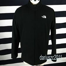 The North Face Mens Full Zip Size Medium M Black 200 Fleece Winter Jacket Coat