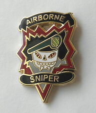 ARMY AIRBORNE SPECIAL FORCES SNIPER GREEN BERET LAPEL PIN BADGE 1 INCH