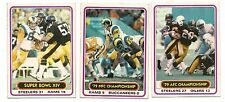 1980 Topps Playoff Football Card Lot (3 Different)