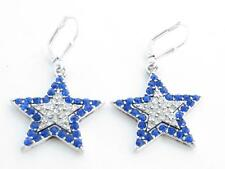 Blue Star Crystal Fashion Earrings Hook Wire Jewelry