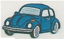 "2.5"" Blue VW Volkswagon Beetle Facing Left Embroidery Patch"