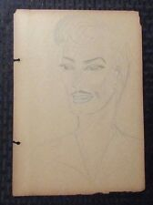 1940's Pin-Up Girl Pencil Art by Mimikos 7.5x11 G/VG 3.0 He or She?