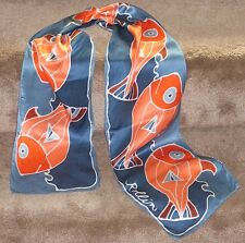 'Fanciful Fish' hand-painted on a silk scarf by Rollin Kocsis