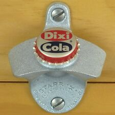 DIXI COLA VINTAGE BOTTLE CAP Starr X Wall Mount Stationary Opener Dixie NEW!