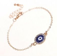 Dainty Blue Evil Eye Bracelet Gold Chain Charm Bracelets New Fashion Jewelry