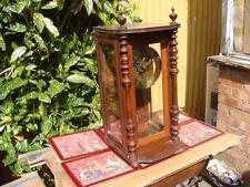 Antique  Tame Side Fusee Mantle  Clock With pendulum & Key  See Video below