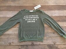 NWT WILDFOX Close Enough Baggy Beach Jumper Size XS Vineyard Green