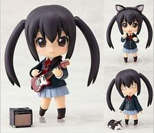 "Anime K-ON! 104# Nakano Azusa 4"" Nendoroid PVC Figure Face Changeable Toy gifts"