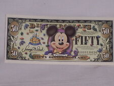 New 2005 Mickey Mouse $50.00 Disney Dollars 50th Anniversary Series  A000010036