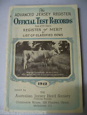 THE ADVANCED JERSEY REGISTER OFFICIAL TEST RECORD 1942 Society Antique Cow Dairy