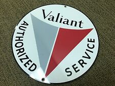 Valiant service vintage Plymouth Chrysler round sign reproduction