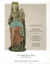 Catalogue de vente Curiosites Haute Epoque Mobilier XVIIIe siecle Renaissance