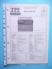 Service Manual-Anleitung für ITT/Schaub-Lorenz Golf 108  ,ORIGINAL