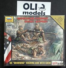 1/72 US Browning .50 cal Machine Gun with Crew FIGURES SET - Zvezda 7414