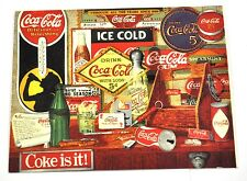 Bella vecchio Coca-Cola USA Cartolina cartolina - Coke Through the Anni