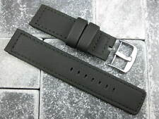 New 22mm Black PVC Rubber Diver Strap watch Band Planet Ocean Maratac 22 II