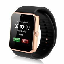 Sport Smart Bluetooth Wrist Watch Phone Mate for Android Samsung IOS HTC Golden