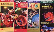 WDW CHRISTMAS 2000 MAGIC KINGDOM EPCOT MGM ANIMAL KINGDOM  GUIDEMAP SET