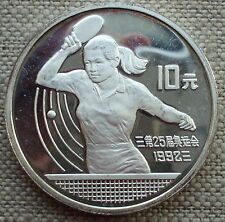 China 10 Yuan 1991 Olympic Games 1992 Silver Proof