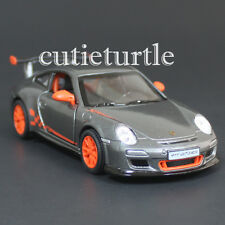 Kinsmart 2010 Porsche 911 997 GT3 RS 1:36 Diecast Toy Car Grey