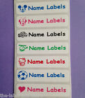 Iron on Personalised Waterproof Name Clothing School Label Tags Tapes
