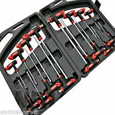 Hex Allen Key Torx Set Security Star Key Set 16pc T Handle Ball Cr-v Extra Long