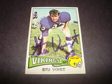 Stu Voight 1975 Topps #113 Vikings Wisconsin Signed Authentic Autograph M7
