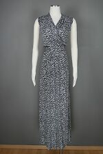 MICHAEL KORS Dress Plus Sz 1X Black White Animal Printed Maxi Stretch NEW