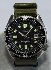 SEIKO 7002-7000 Vintage Diver Watch Classic 6105 Dial Pepsi Green Nylon Strap